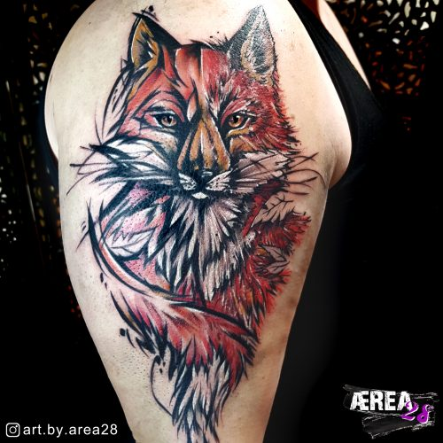 Fuchs_Arm_Tattoo_Sketch_Comic_Fantasy_Realismus_Tattoo