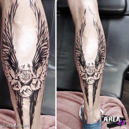 Waden_Tattoo_Elemte-und-flügel-tattoo