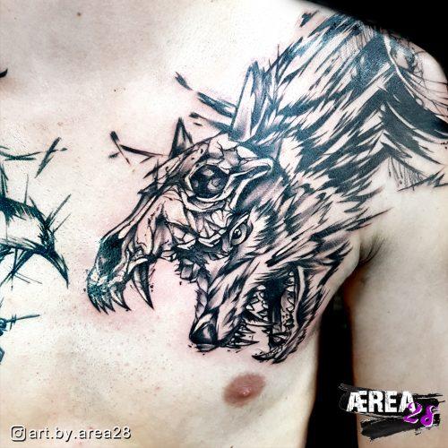 Wolf_sketch-brust-tattoo