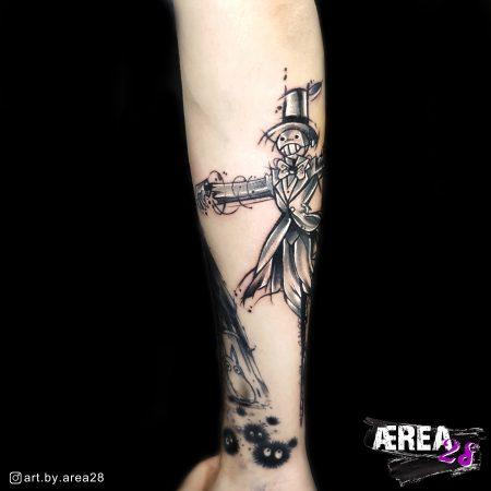 Studio Ghibli Tattoo Rübe Tattoo by Älli Lux from Tattoo Studio Art by AREA28_2