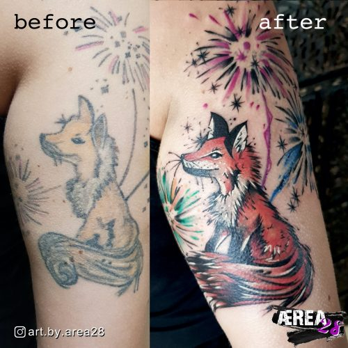 Fox Cover Up (before & after) Kopie
