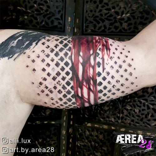Destroyed Pattern Polka Trash Tattoo by Älli Lux 2