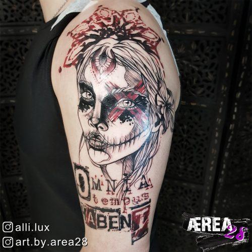 La Catrina Tattoo by Älli Lux - Omnia Tempus Habent 1