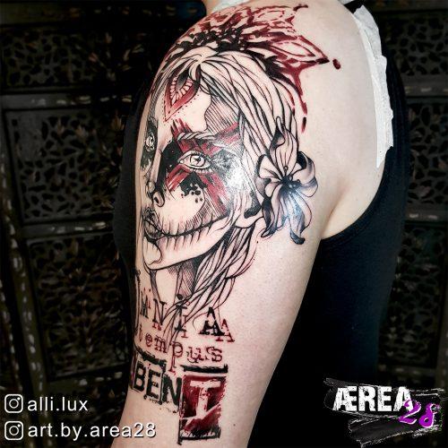 La Catrina Tattoo by Älli Lux - Omnia Tempus Habent 4