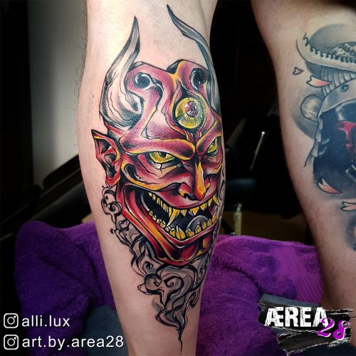 Oni Maske Tattoo by Älli Lux 2
