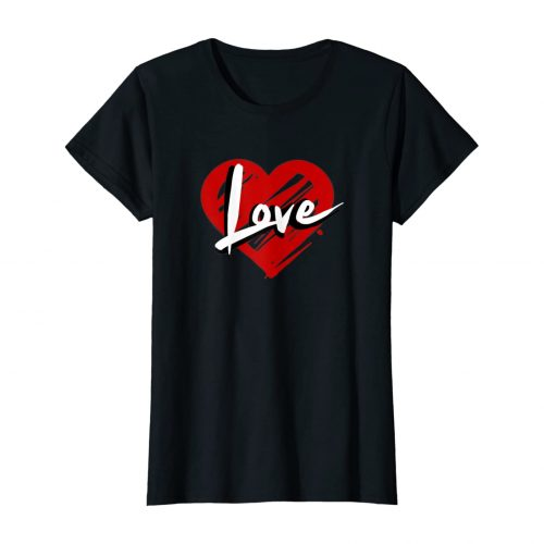 Heart&Love Shirt by AREA28-black